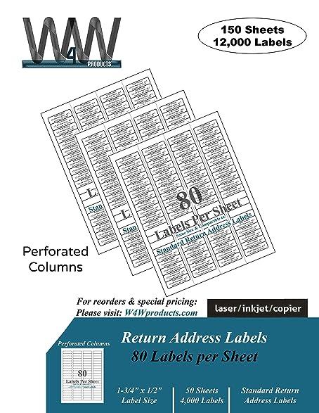 amazon com return address mailing labels 150 sheets 12 000