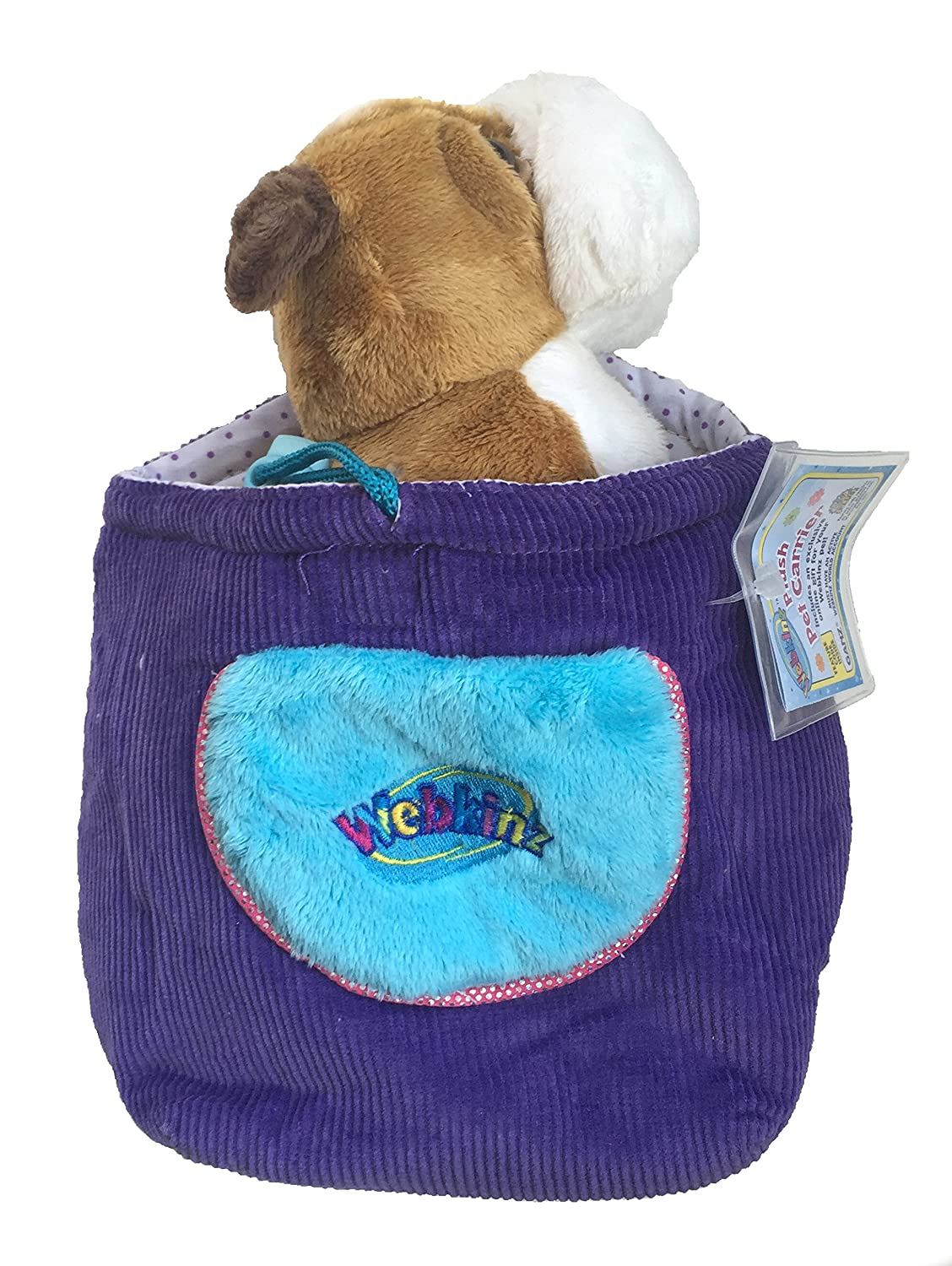 Webkinz Bulldog Puppy and Carrier Knapsack Ganz