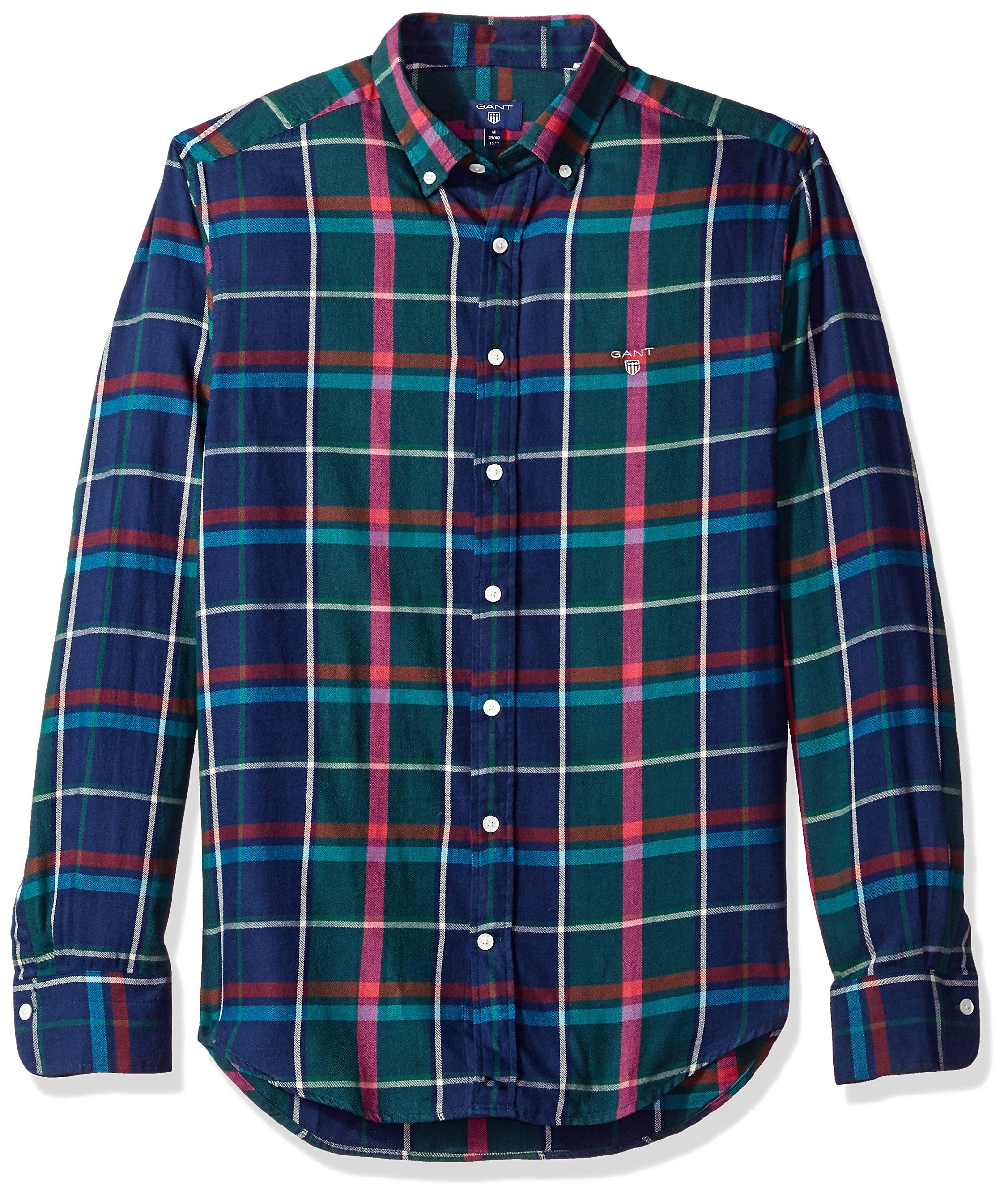 GANT Men's Check Shirt, IVY Green, XXL