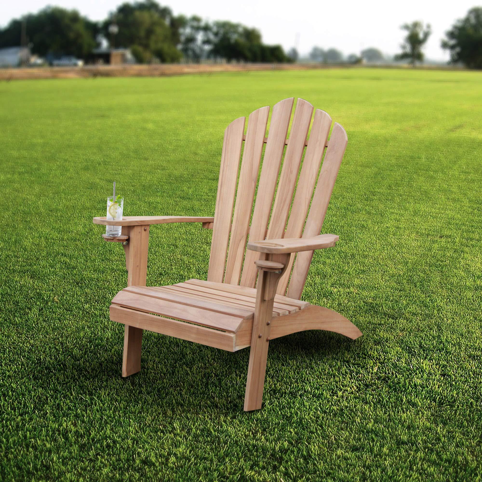 Cambridge-Casual AMZ-240309T Arie Adirondack Chair, Teak