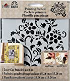 FolkArt Small Painting Stencil, 30934 Lovely Floral