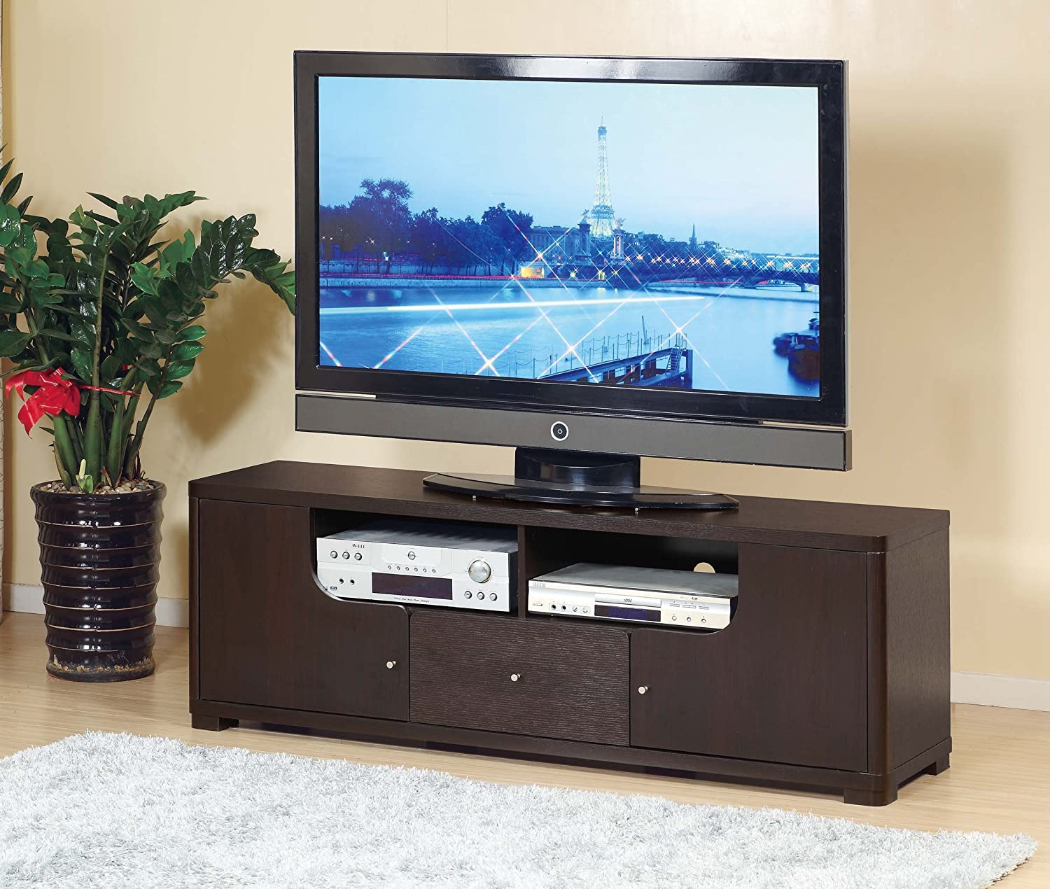 Amazon Com Smart Home 13763 60 Tv Stand Modern Entertainment