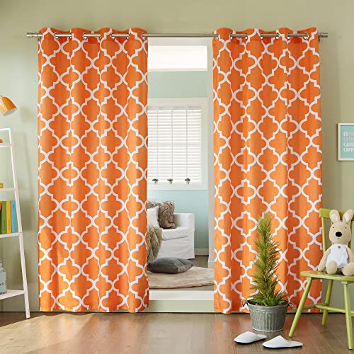 Home Fashion Moroccan Print Velvet Curtains