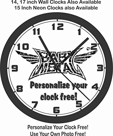 Amazon Com Babymetal Wall Clock Personalize Free And Choose From 7