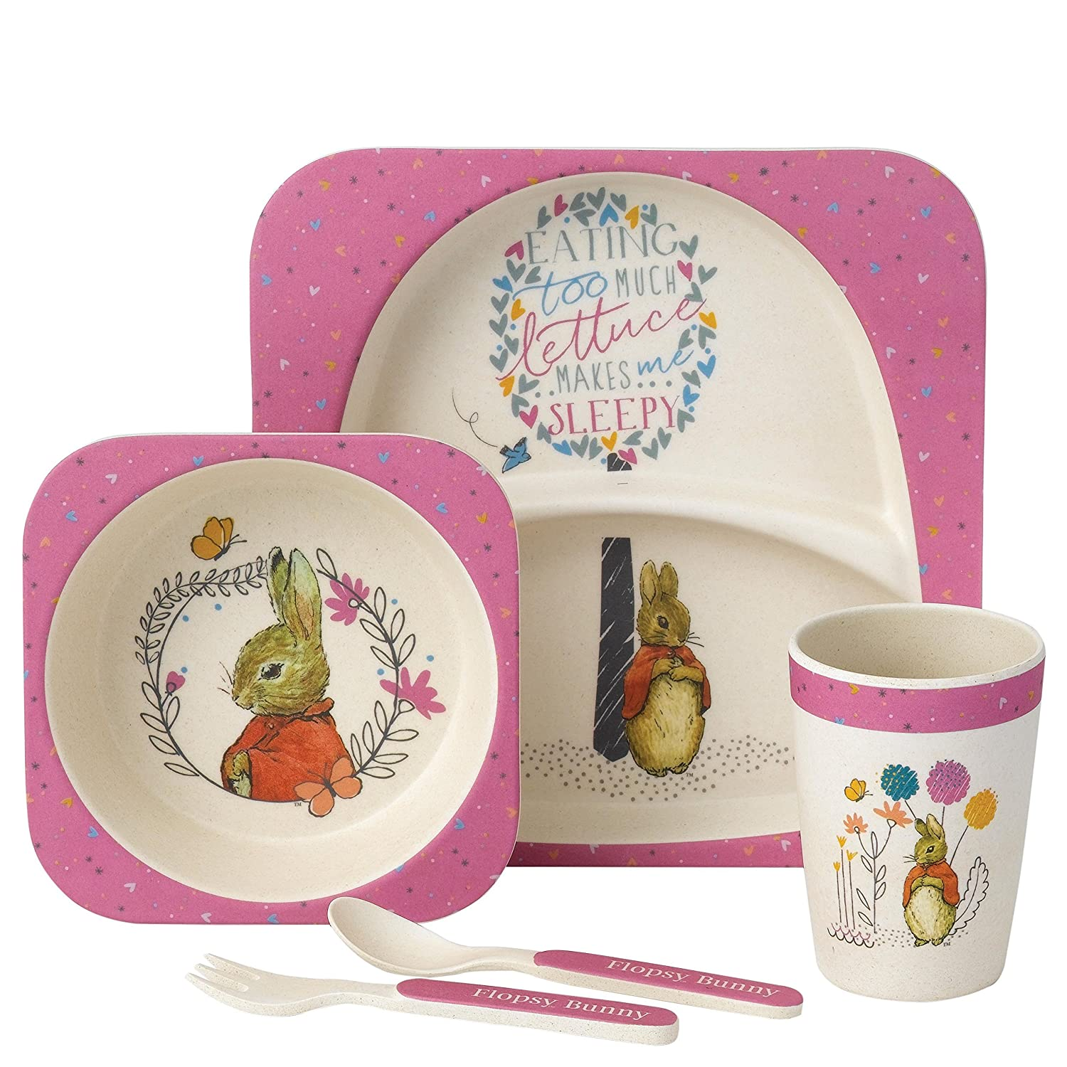 Beatrix Potter Flopsy Bunny Dinner Set Enesco A27756