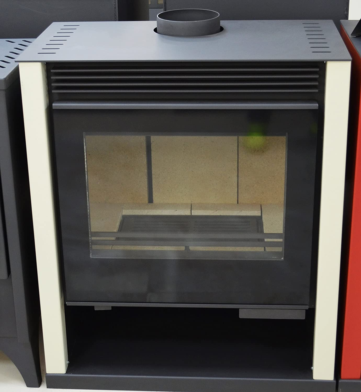 Estufa de leña color marfil chimenea quemador de troncos de leña estufa Top Flue grande Firebox 13/21 kw potencia de calefacción: Amazon.es: Bricolaje y ...