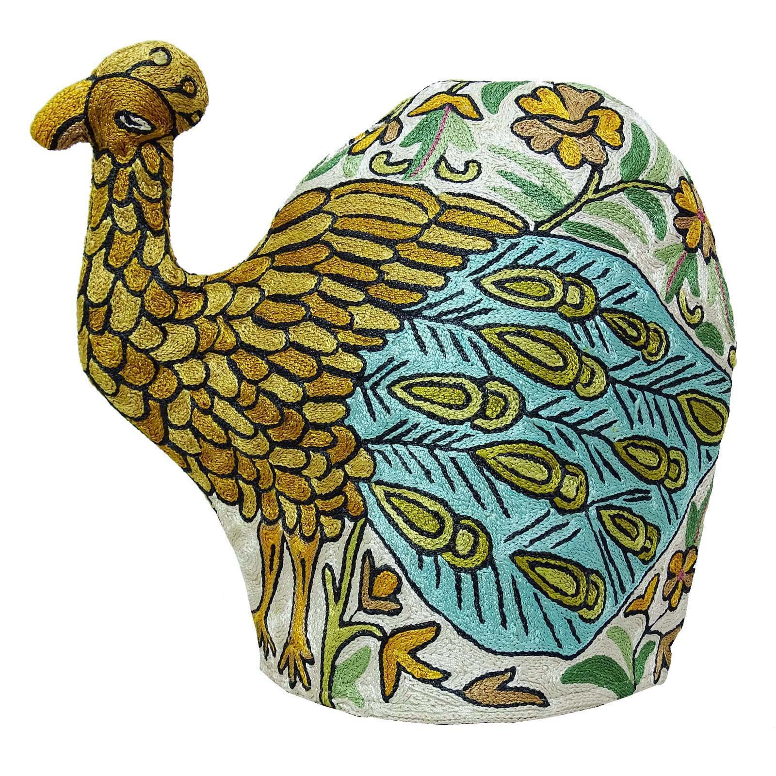 Peacock Design Kettle Cover Indian Kashmiri Embroidery Quilted Tea Cover Gift by ibaexports