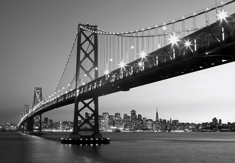 Fototapete schwarz weiß meer  Fototapete - SAN FRANCISCO SKYLINE - (134i) Größe 366x254 cm 8 ...