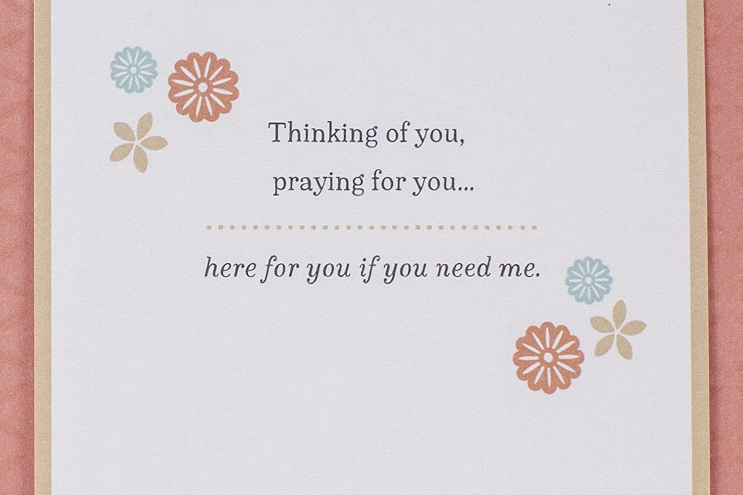 Amazoncom Hallmark Mahogany Religious Thinking Of You Card God