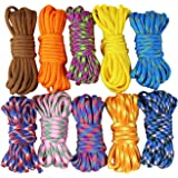 UOOOM 10 pcs Paracord Bracelet rope Parachute Cord Outdoor Survival Rope Set DIY Handcraft Braiding 10 Feet