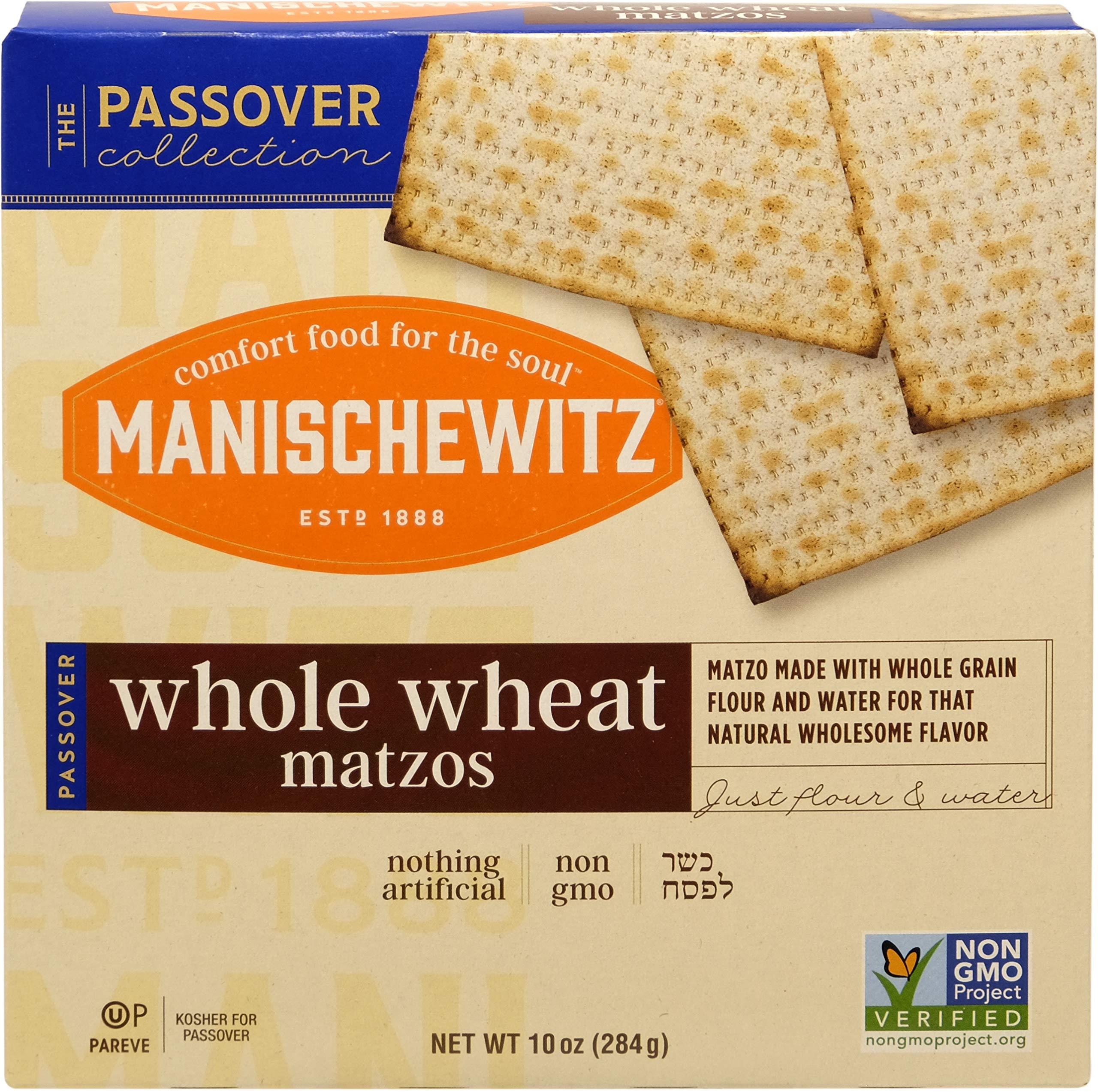 Manischewitz Whole Wheat Matzo, Kosher For Passover, 10 Ounce Box
