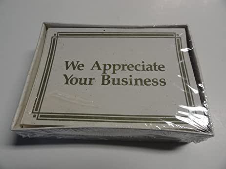 Amazon we appreciate your business professional note cards we appreciate your business professional note cards reheart Images