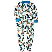 HONGLIN Footed Baby Pajama Boys Girls Sleeper Long Sleeve 100% Cotton Zip Front Neutral