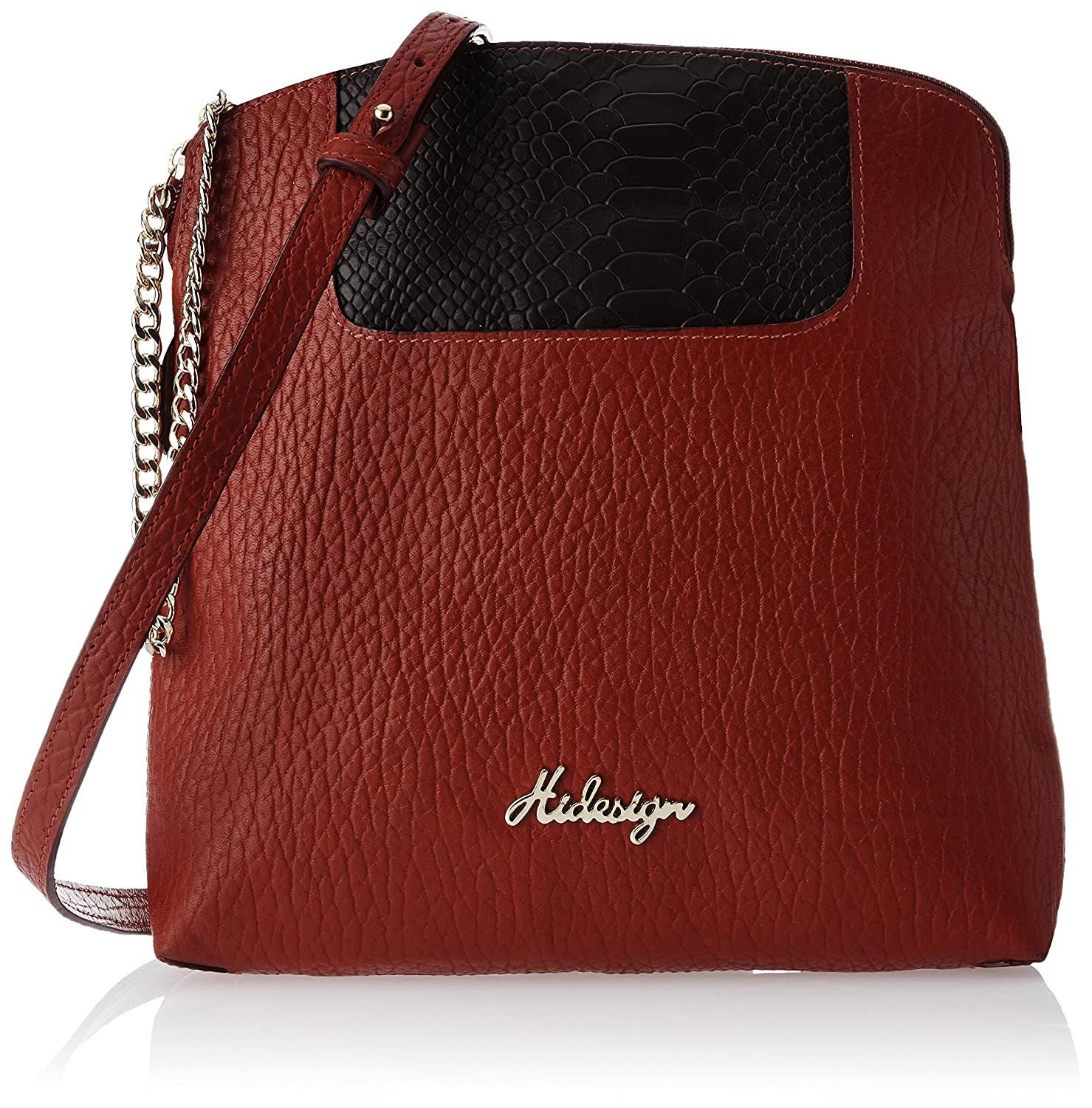 Hidesign for Vogue Sibyl Women's Sling Bag (Red and Aubergine ...