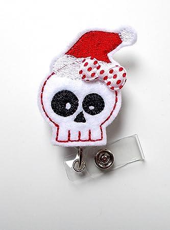 Amazon.com: La Sra. Santa Esqueleto – ID Badge Reel ...