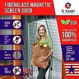 """MAGNETIC SCREEN DOOR – Screen Door Curtain with Magnets New 2018 Bug Screen Fits Door Size up to 34""""-82"""" Instant Retractable Magnetic Curtain Front Patio Doors Heavy Duty Fiberglass Mesh"""