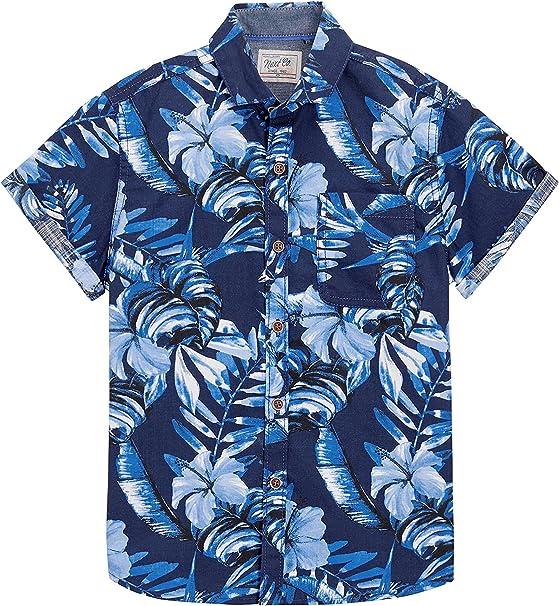 next Niño Júnior Camisa Hawaiana Mangas Cortas con Botones Flores: Amazon.es: Ropa y accesorios