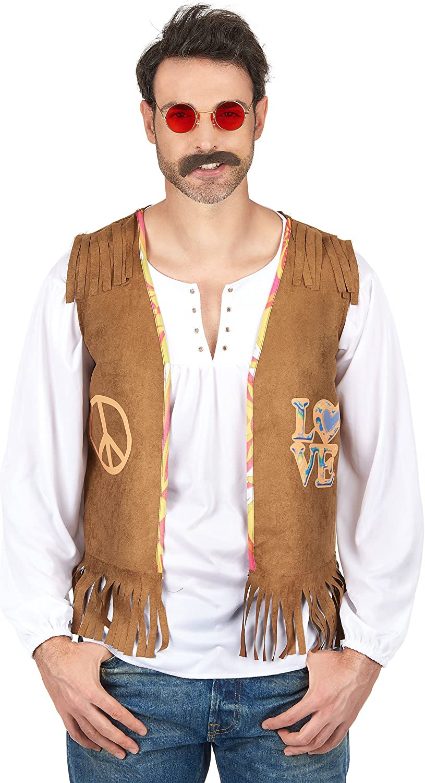 Generique - Chaleco Hippie Hombre XL: Amazon.es: Juguetes y juegos