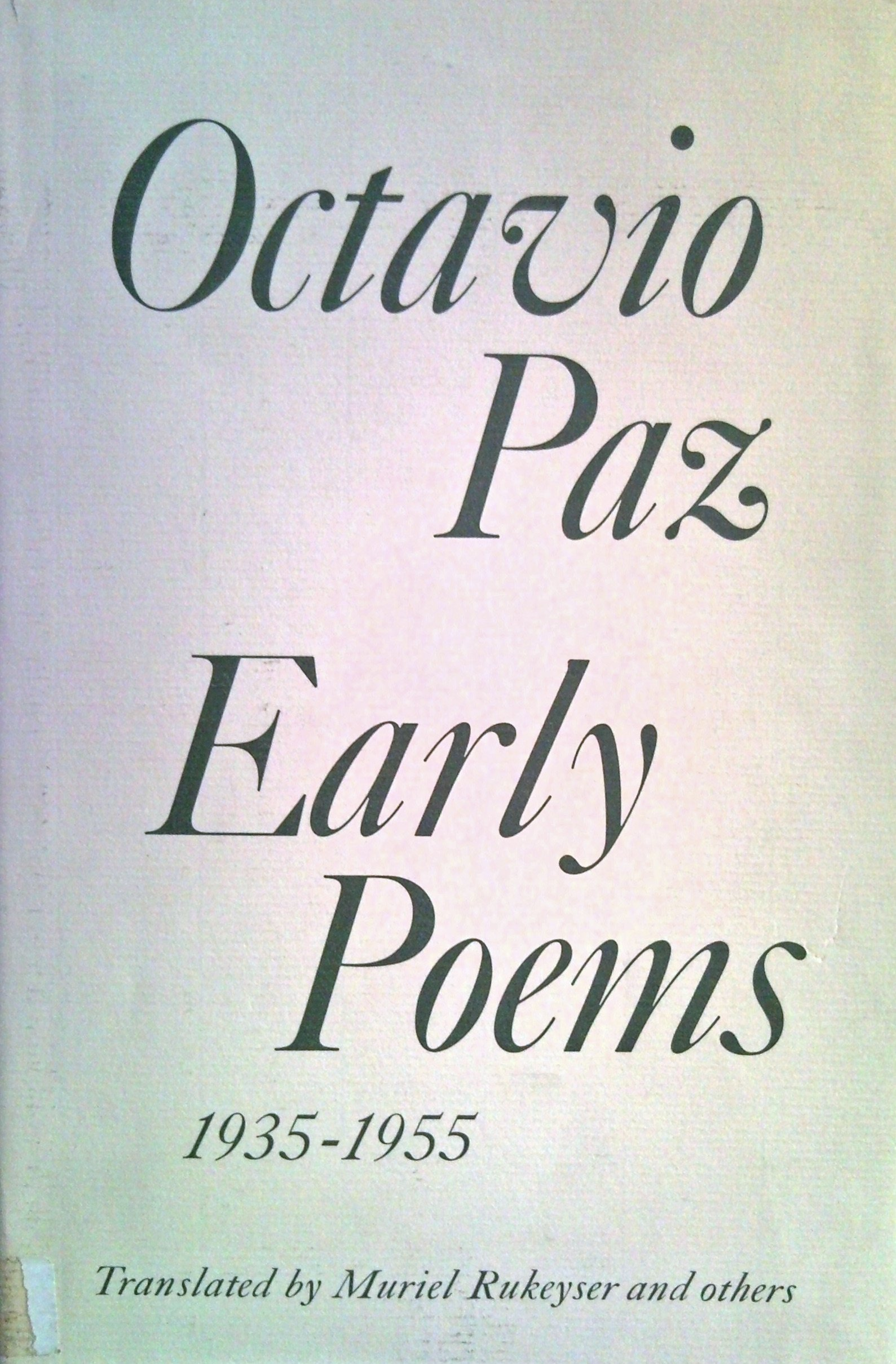 Early Poems 1935 55 Collection Of Representative Works