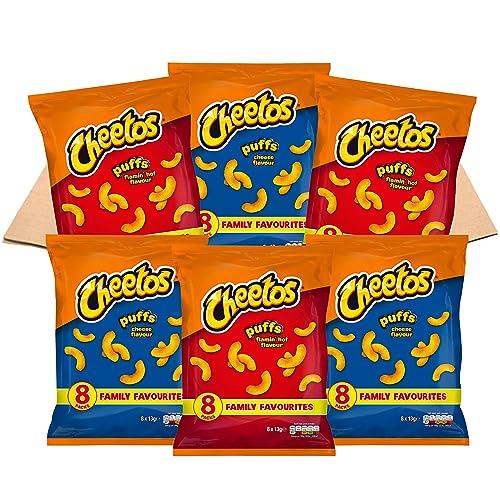 Cheetos USA Favourites Puffs Multipacks Snacks Box (48 Single Bags)