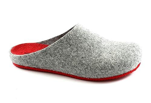 GRUNLAND EURO CB0539 cenere rosso ciabatte donna feltro di vera lana 42   Amazon.it  Scarpe e borse 26416992454