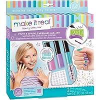 Make It Real – Paint & Sparkle Mermaid Nail Art. Mermaid Nail Polish, Sticker, and Decoration Kit for Girls. Includes Mermaid Nail Polish, Mermaid Stickers and Mermaid Nail Art Decorations