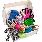 Zenify Puppy Dog Toys Gift Box - Pet Interactive Dog Rope Toy Starter Set - Tug Cotton Fetch Ball Rubber Training…