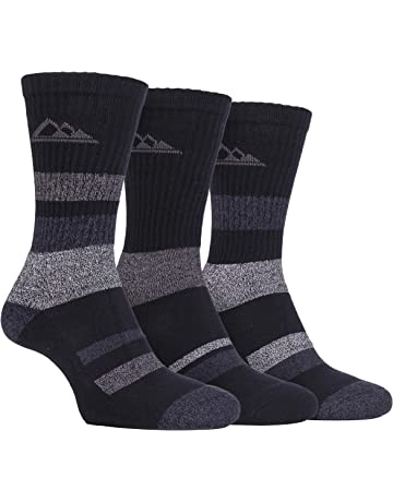 a2ab932181045 Storm Bloc - 3 Pack Mens Padded Sole Anti Blister Lightweight Breathable  Cotton Walking Hiking Socks