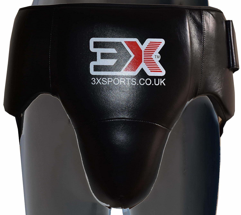 3x Sports coquilla Protector MMA Copa Boxeo Abdo Caja de guantes para hombre Abdominal 3X Sports