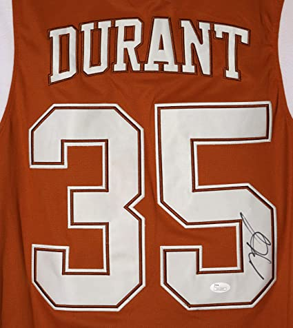 hot sale online c8480 08dab Kevin Durant Texas Longhorns Signed Autographed Orange #35 ...