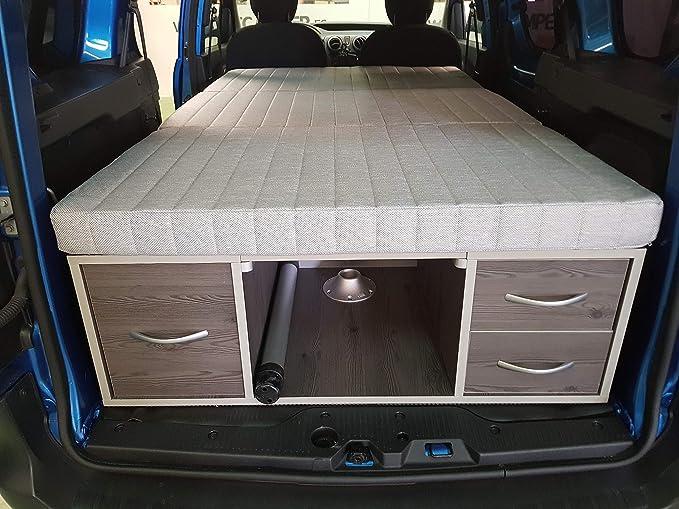 Kit Camper, Mueble Camper con Cama y Mesa para Furgonetas Pequeñas (Caddy 04/15 5 plazas): Amazon.es: Coche y moto