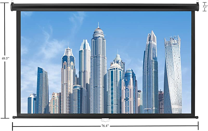 Amazon Basics 16:9 Pull Down Projector Screen - 80 Inch