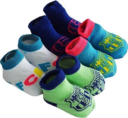 6ed5847e2b38c Regalo bebé – 4 pares de calcetines Barca – Colección oficial FC Barcelona  – Talla bebé