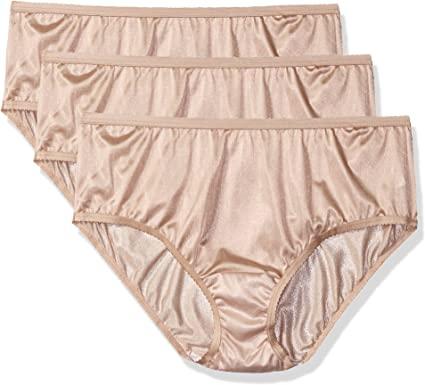 3 Pack Shadowline Sleepwear 11042X Shadowline Womens Plus-Size Panties-Nylon Hipster