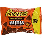 REESE'S King Size Peanut Butter Cups Minis, 2.5 Ounce