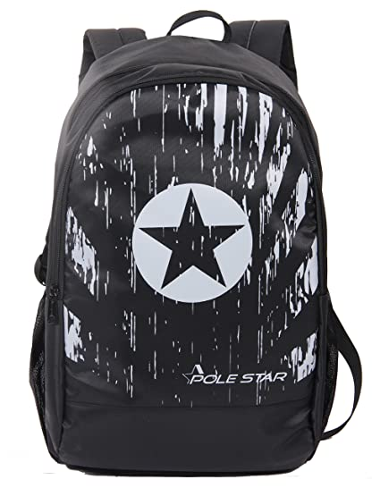 a85f5d7ee44c POLE STAR Polyester 30L Black Backpack with Laptop Compartment  Amazon.in   Bags