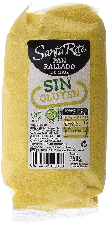 Santa Rita Pan Rallado de Maíz sin Gluten - 5 Paquetes de ...