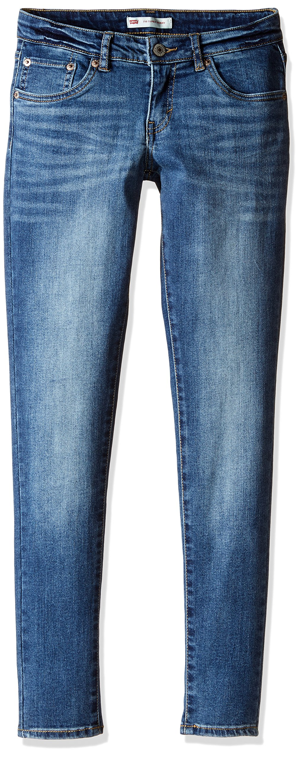 Levi's Big Girls' 710 Super Skinny Fit Classic Jeans, Wave, 12