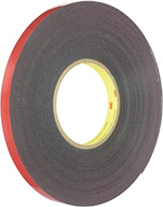 "3M(TM) Automotive Acrylic Plus Attachment Tape, Black, 1/2"" x 20 yds."