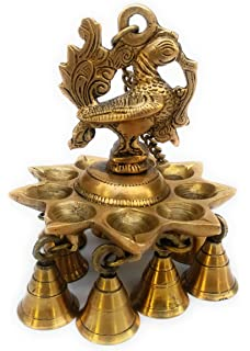 Elegant Brass Handicraft Brass Wall Hanging/Wall Decor Peacock Diya Stand