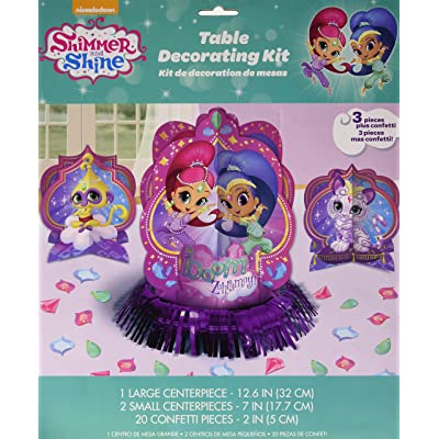 Amscan, Shimmer and Shine Table Decorating Kit, purple: Toys & Games