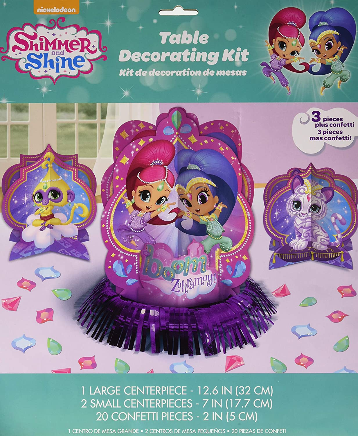Amscan, Shimmer and Shine Table Decorating Kit, purple