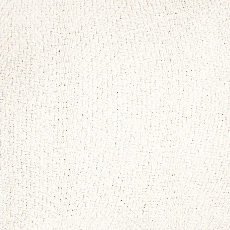 Couverture Chaude et Douce pour canap/é et lit 152 cm x 127 cm Sticky Toffee Couverture /à Lancer l/éger en Coton tiss/é Beige