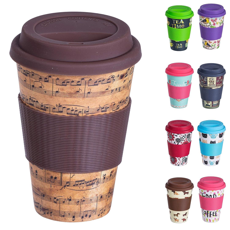 Taza de café reutilizable con tapa