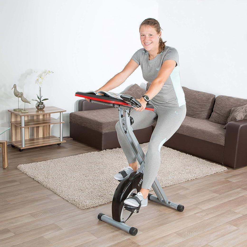Ultrasport F-Bike Bicicletas Estáticas Plegables Advanced Estática LCD Hometrainer