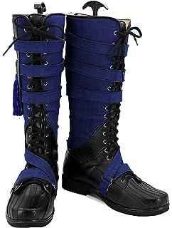 b54e191462a7 Amazon.com: Hot Movie Doctor Cosplay Strange Shoes Black PU Knee ...