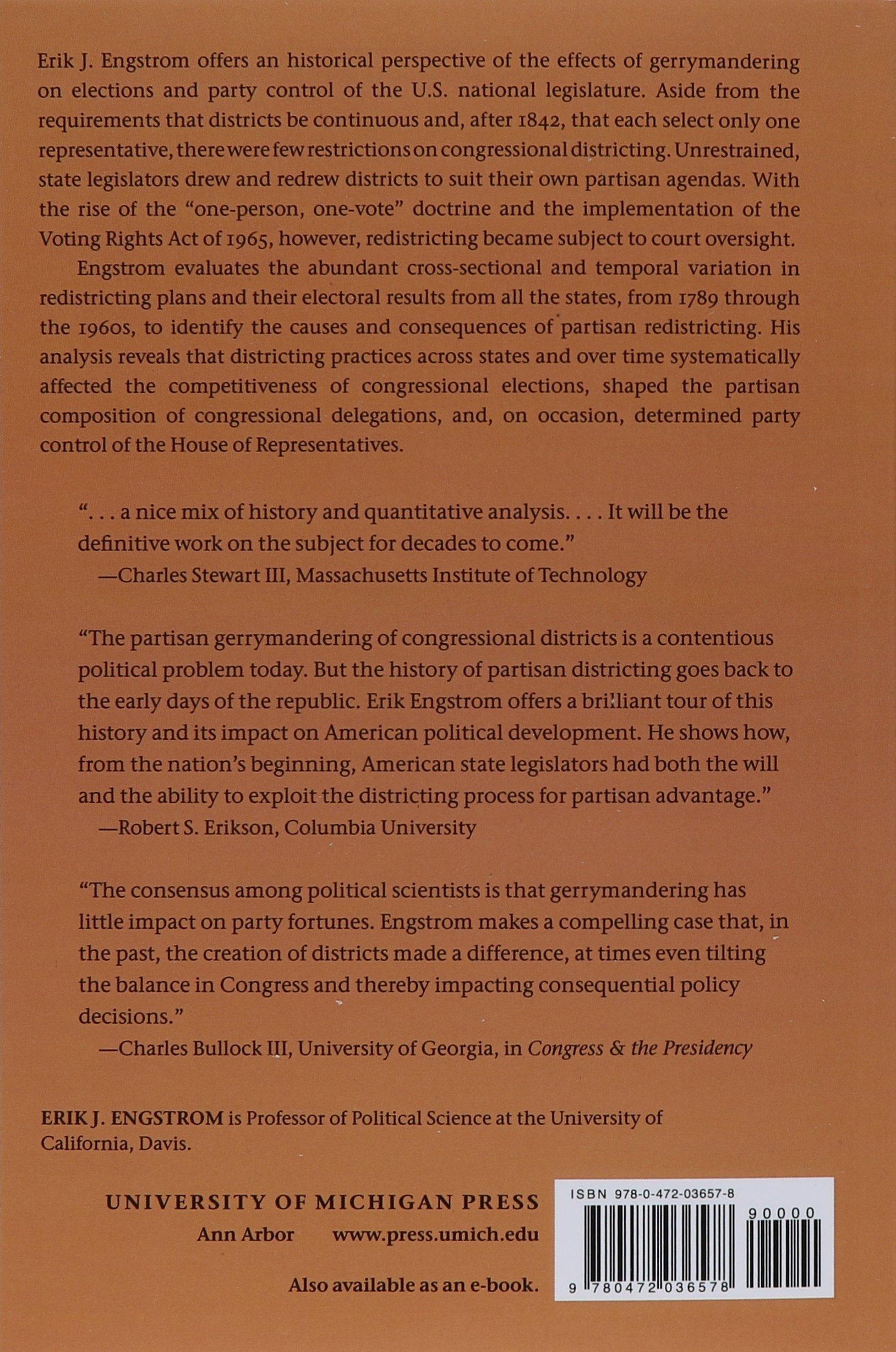 Gerrymandering And The Construction Of American Democracy (legislative  Politics And Policy Making): Erik J Engstrom: 9780472036578: Amazon:  Books