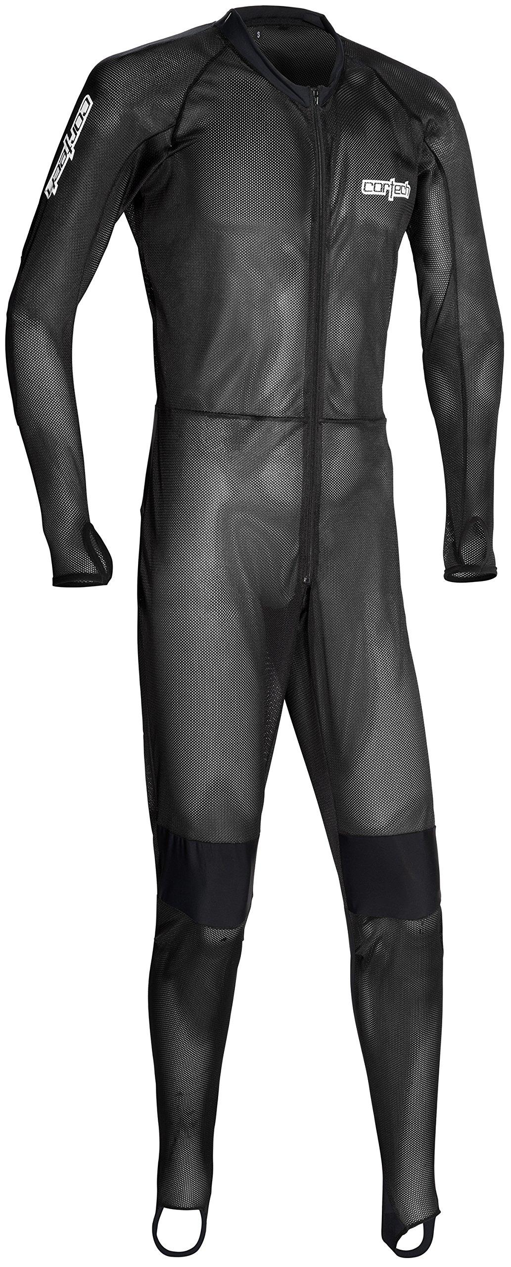 Cortech XF-10-8975-0105-03 Quick Dry Air Undersuit, Distinct Name: Black, Gender: Mens/Unisex, Primary Color: Black, Size: XS