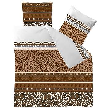 Aqua Textil Bettwäsche 200x200 Baumwolle 3tlg Set Kopfkissen