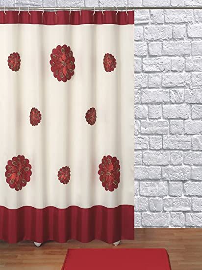Seasons Greetings Christmas Holiday Fancy Fabric Shower Curtain 100 Polyester 70quotxquot72
